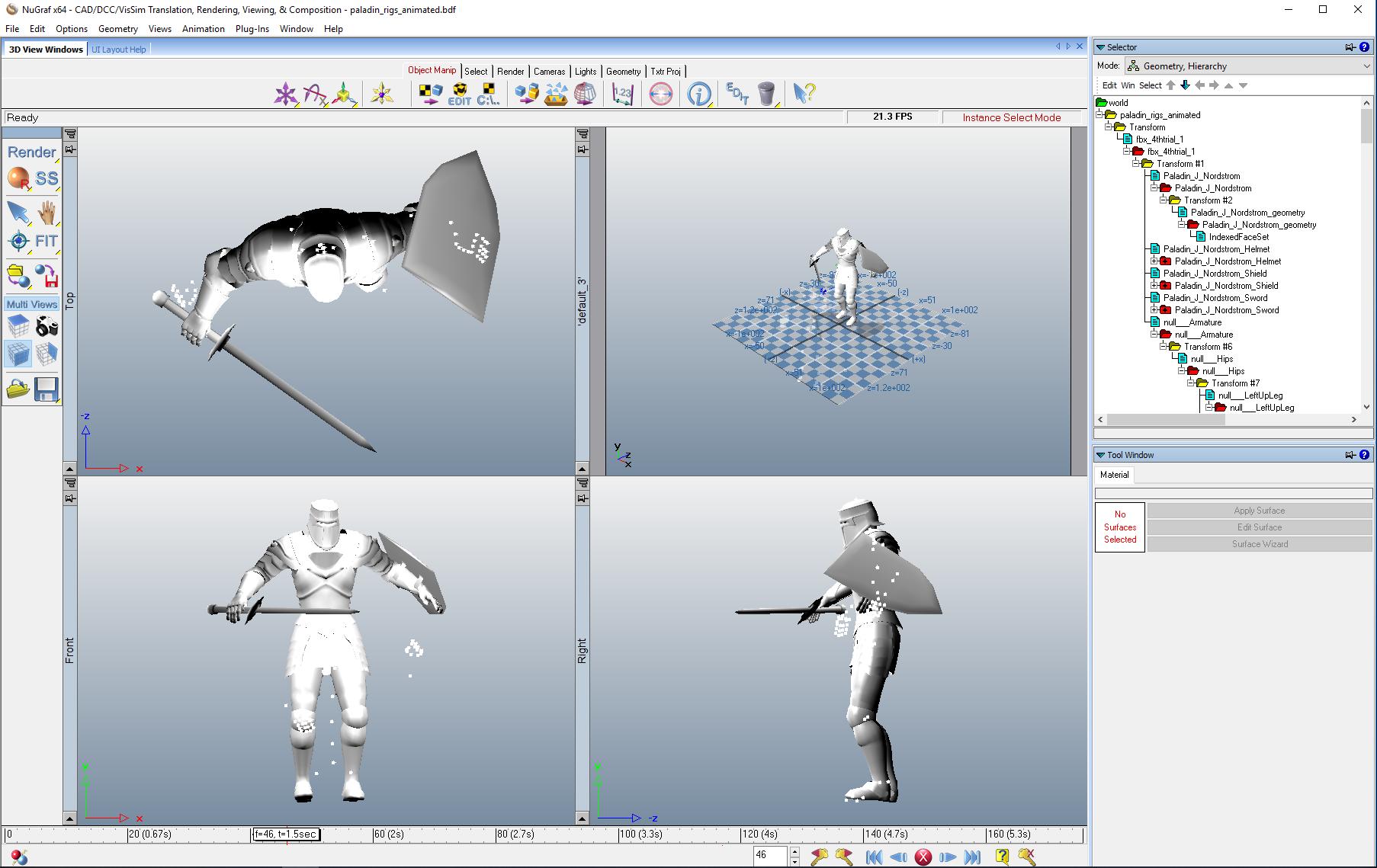 x3d-base humanoid animation